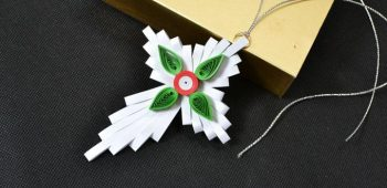 Quilled Cross Ornament