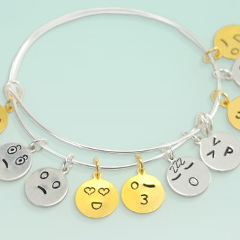 Metal Stamped Emoji Charms