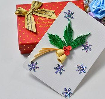 Quilled Paper Christmas Card