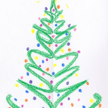 Christmas Tree Name Art