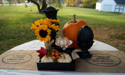 Fall Stenciled Table Runner