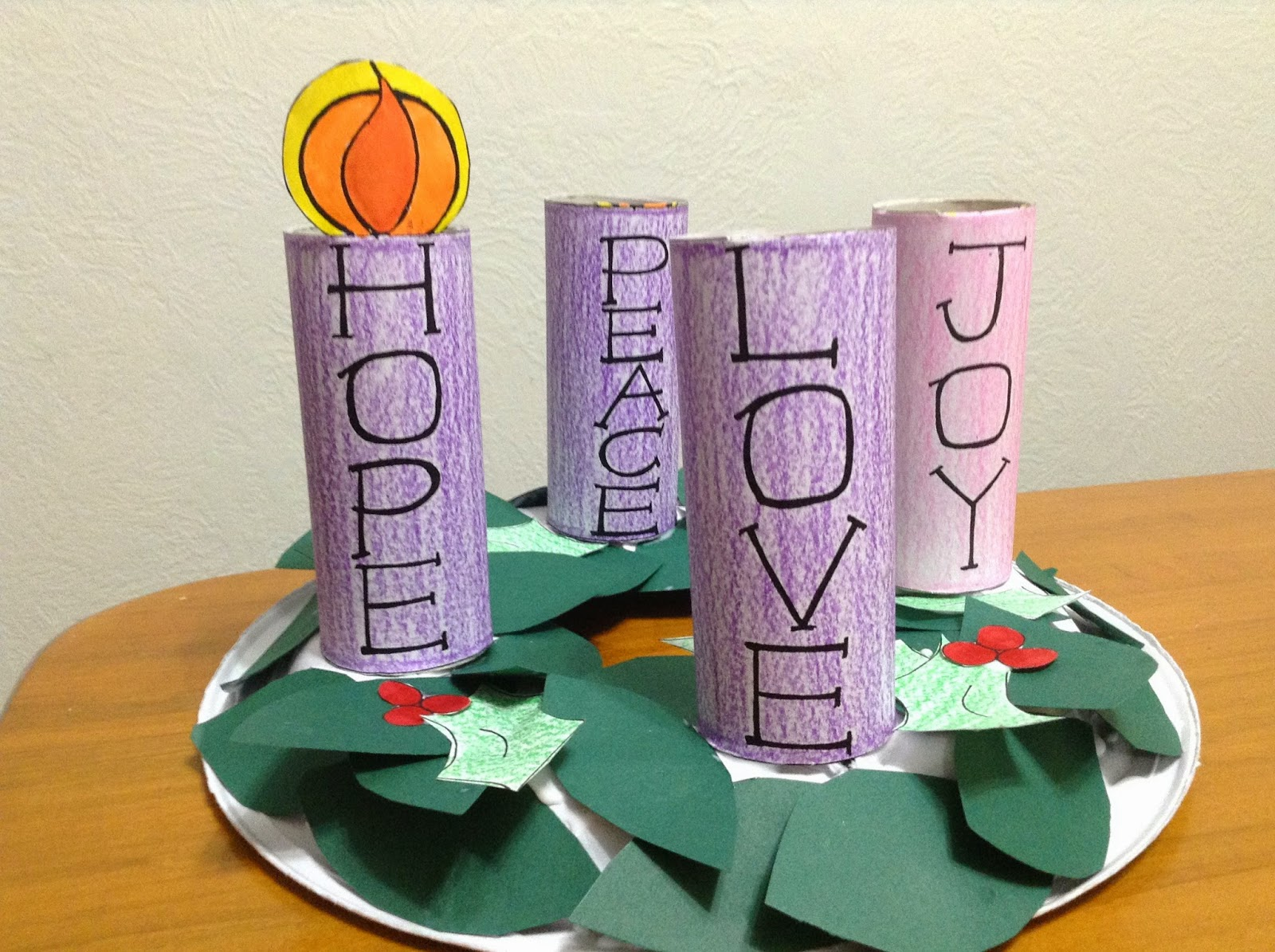 It's just a graphic of Decisive Advent Wreath Printable
