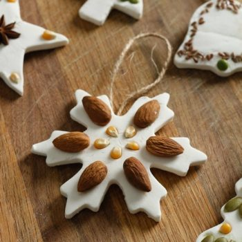 Nut and Seed Salt Dough Ornaments