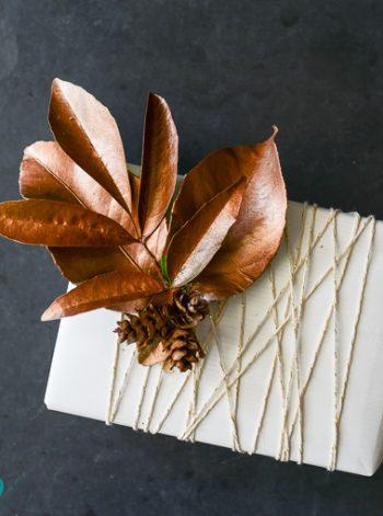 Leaf Gift Topper