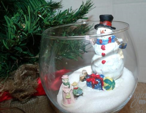 Glassware Christmas Village