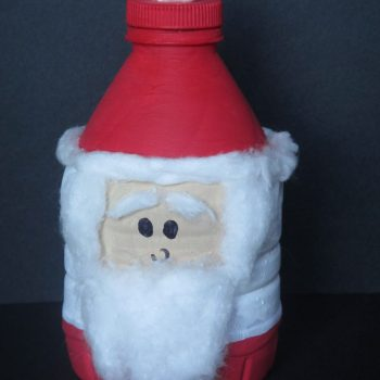 Water Bottle Santa Claus