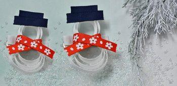 Snowman Hair Clip