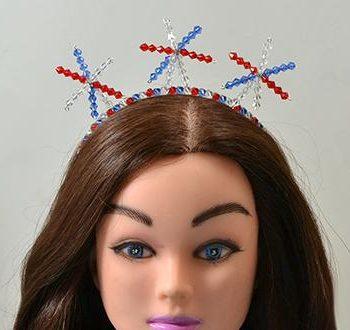 New Year Beaded Star Headband