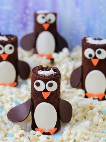 Cake Roll Penguins