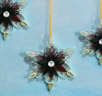 Quilled Paper Snowflakes