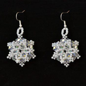 Beaded Snowflake Earrings