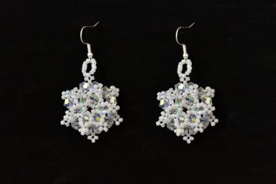 Beaded Snowflake Earrings