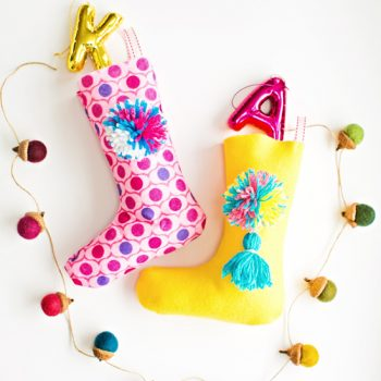 Pom Pom Felt Stockings