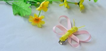 Ribbon Butterfly Barrettes