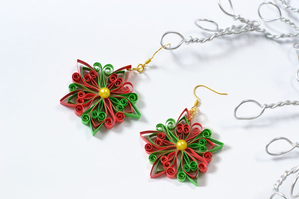 Quilled Star Earrings