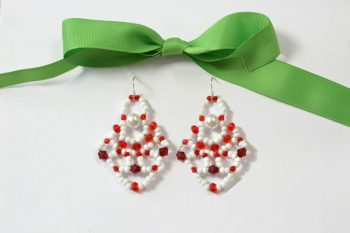 Beaded Santa Claus Earrings