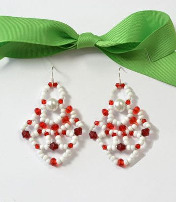 Beaded Santa Claus Earrings