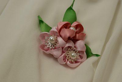 Ribbon Flower Brooch