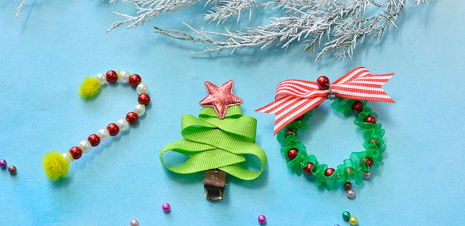 Cute Christmas Hair Clips