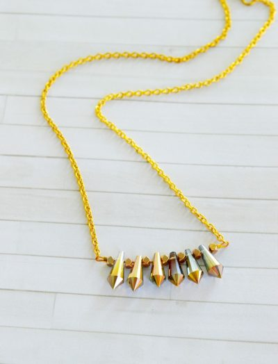 Chain Necklace with Drop Beads