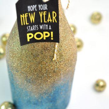 Glittery New Year's Bottle