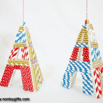 Eiffel Tower Chirstmas Ornaments