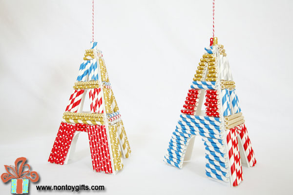 Eiffel Tower Chirstmas Ornaments