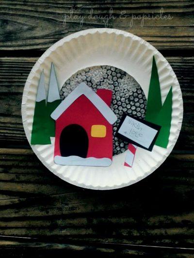 Rosh Hashanah Food: Paper Plate North Pole