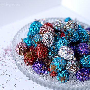 Glittered Pine Cones