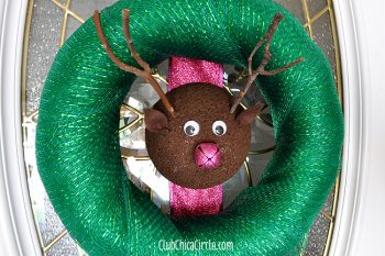 Reindeer Holiday Wreath