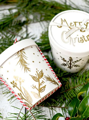 Gilded Christmas Cookie Container