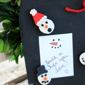 Snowman Magnets and Notes