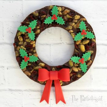 Cranberry Chocolate Wreath