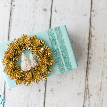 Mini Pine Cone Wreath Ornament