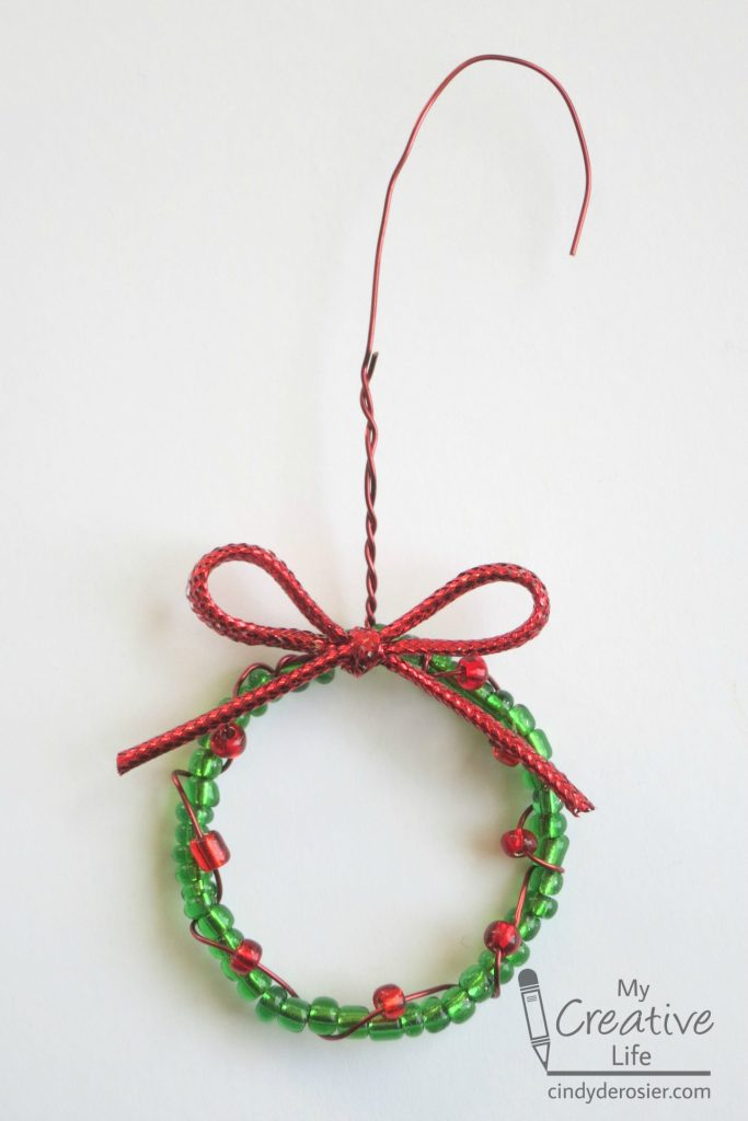 Beaded Wreath Ornament