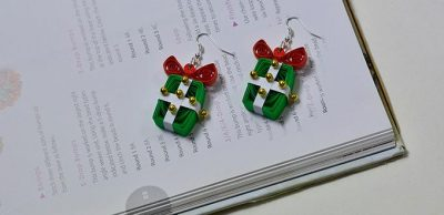 Quilled Present Earrings