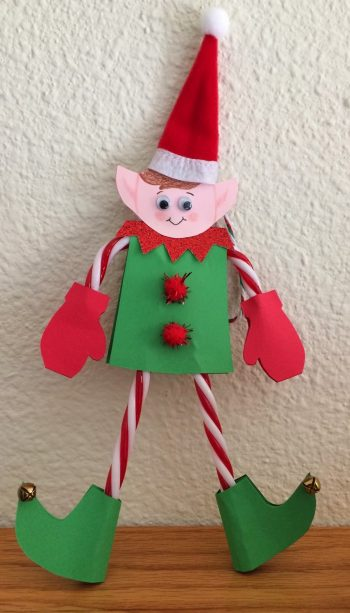 Candy Cane Elf Ornament