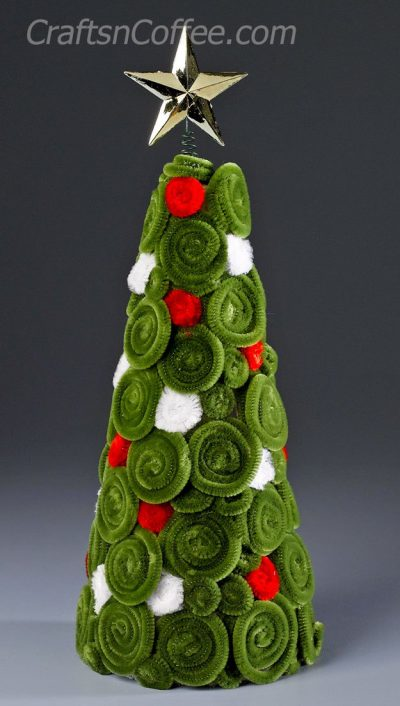 Chenille Swirl Christmas Tree