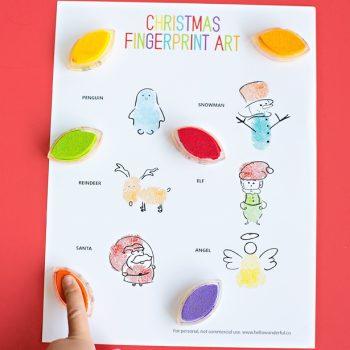 Fingerprint Christmas Art