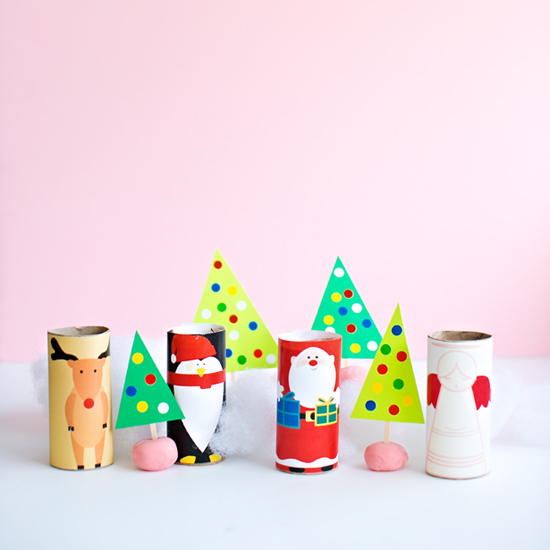 Christmas Paper Tube Characters
