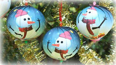 Paper Christmas Balls