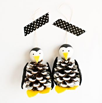 Pine Cone Penguin Ornament