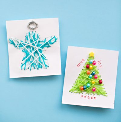 String Art Christmas Cards