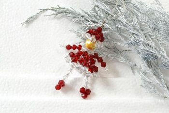 Beaded Snowman Pendant