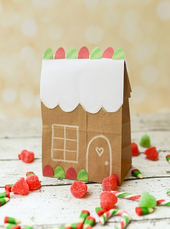 Lunch Bag Gingerbread House