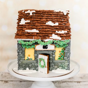 Royal Icing Stone Gingerbread House