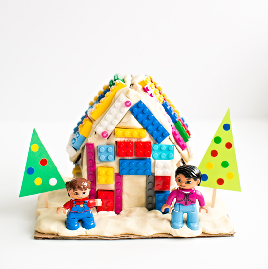 LEGO Playdough Gingerbread House