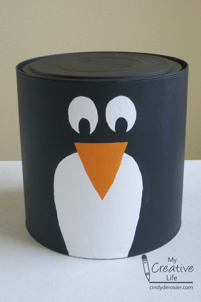Painted Penguin Container