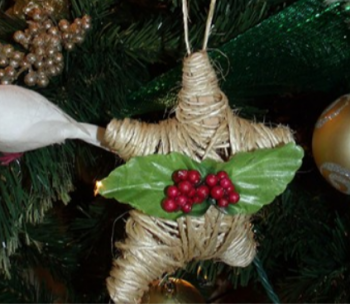 Twine-Wrapped Star Ornament