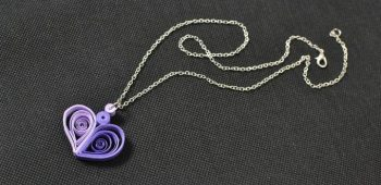 Quilled Heart Pendant Necklace